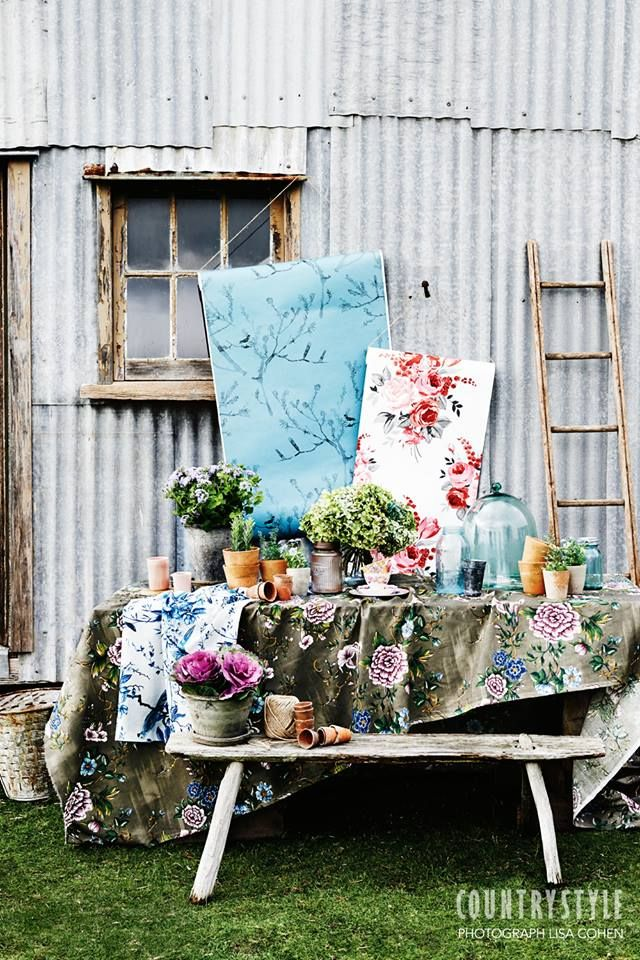 Country Style Magazine Take Decorating Inspiration From Fresh Flowers And Fl Prints Photography Lisa Cohen Styling Indianna Foord