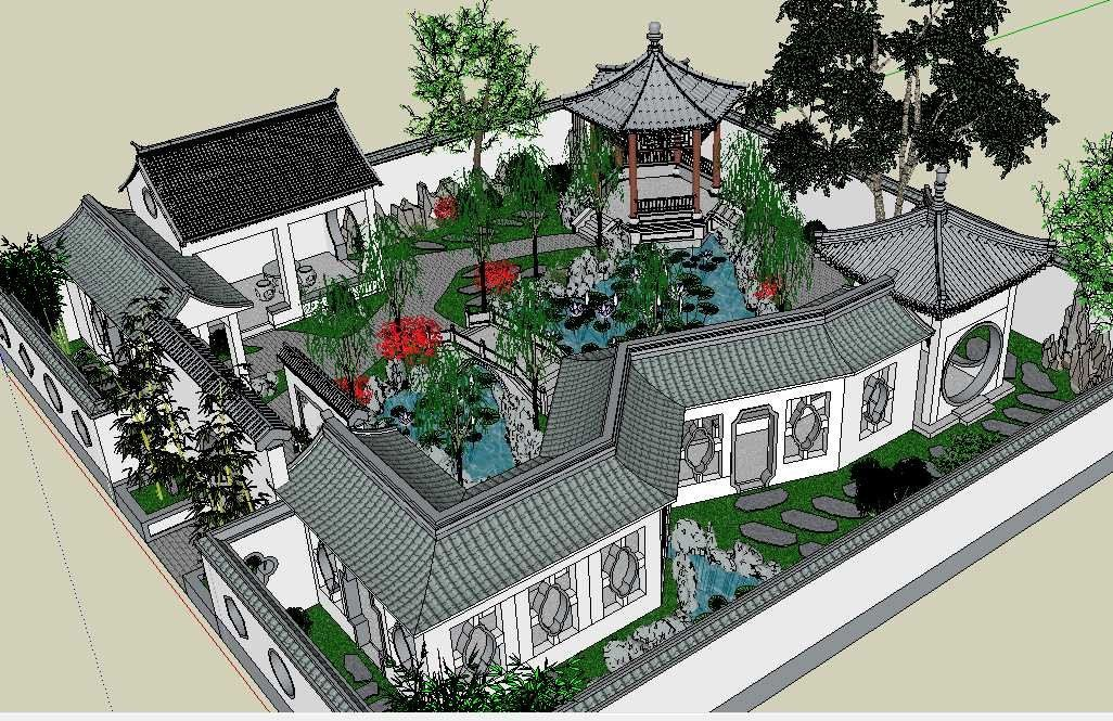 20 Kinds Of Chinese Landscape Sketchup Models Best Recommanded