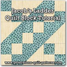 JACOB'S LADDER BLOCK..........PC............  Learn to make a Jacob's ladder quilt block. Instructions included for 5 sizes. One of many blocks in our Free Quilt Block Patterns Library.