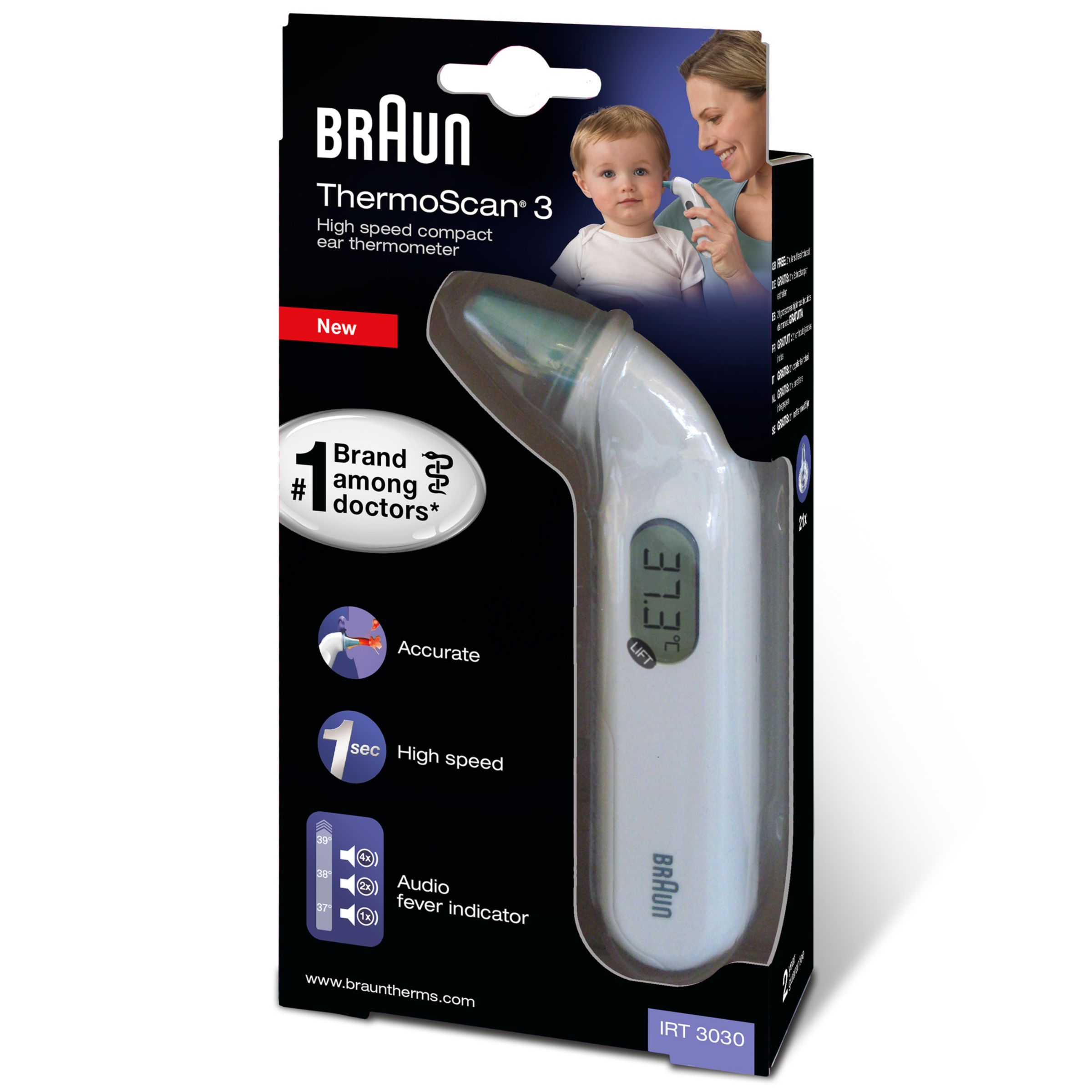 Braun ThermoScan 3 Ear Thermometer with