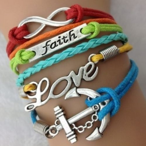 Faith Rainbow Wrap Bracelet. Starting at $1 on Tophatter.com!