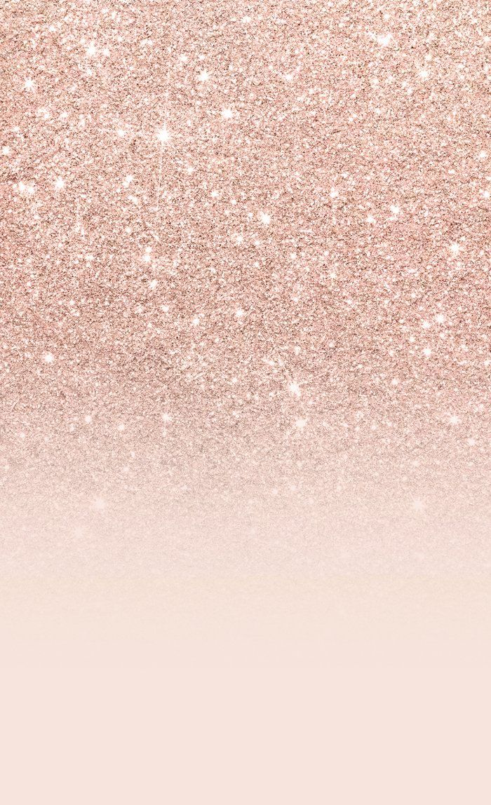 Rose gold faux glitter pink ombre color block Blackout Curtain by girlytrend