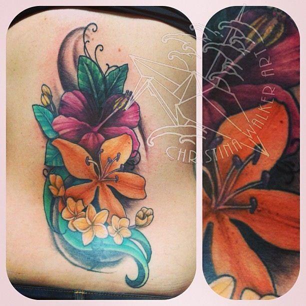 Tropical Flower Tattoos: Tattoos By Christina Walker