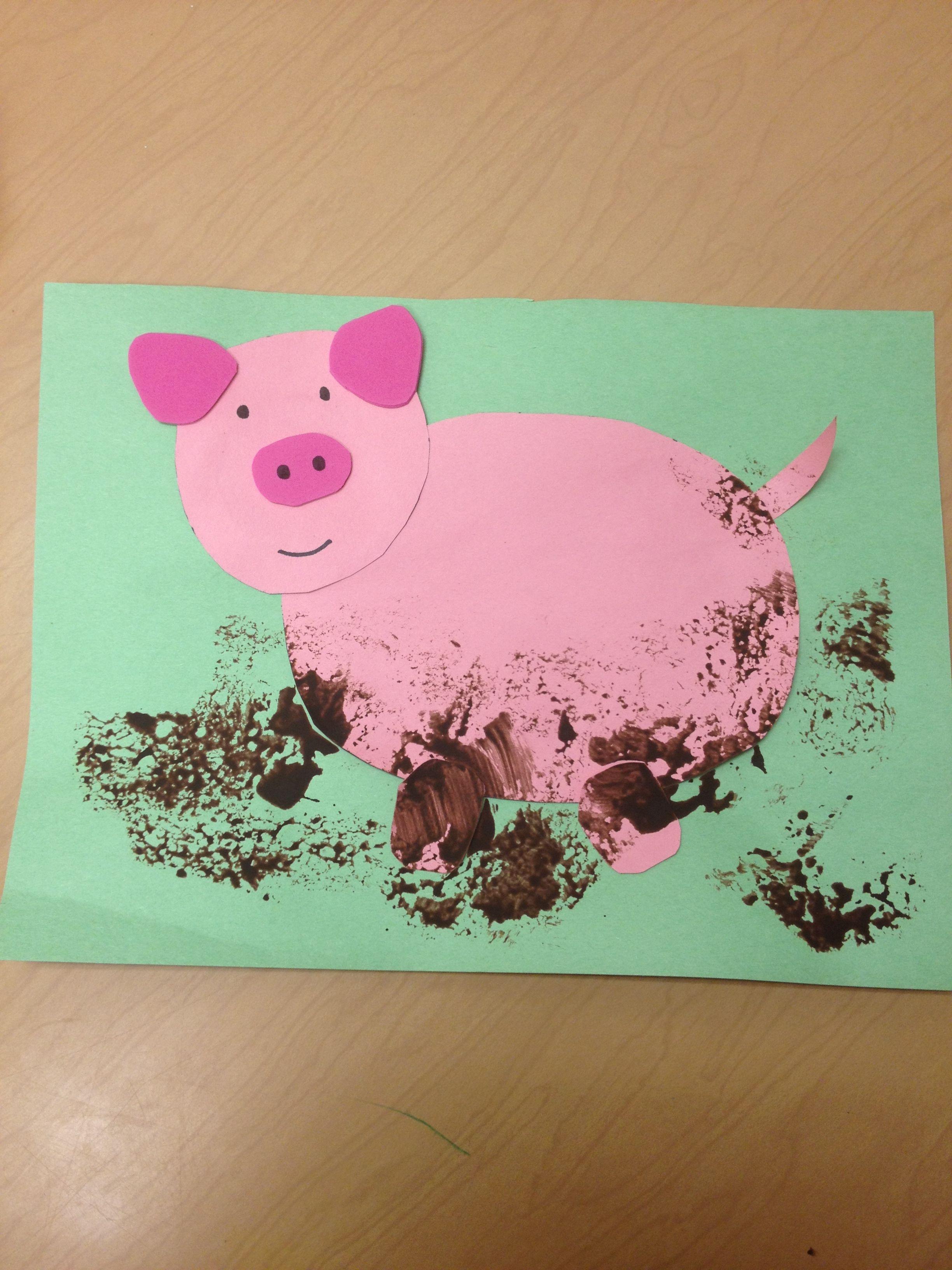 Pre k arts and crafts - Pre K Muddy Pig Craft