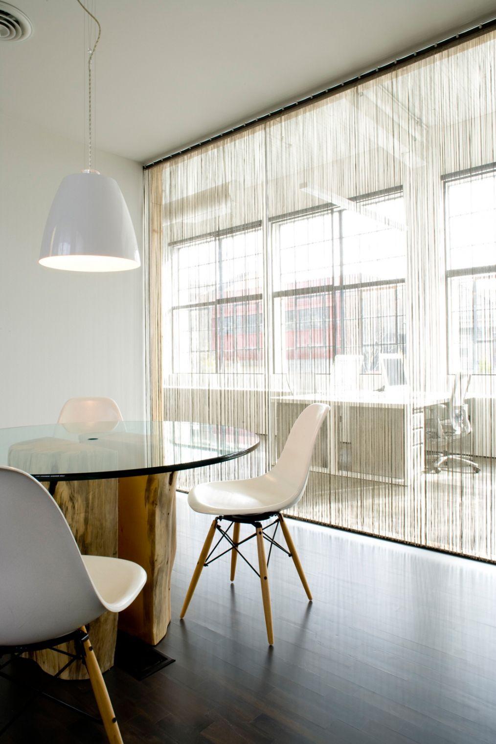 Oddělení kuchyně trochu jiné desk grouping against window in the background fringe curtain on window