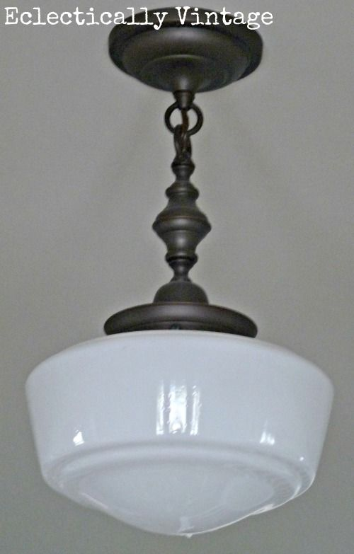 Eclectically Vintage Foyer Light