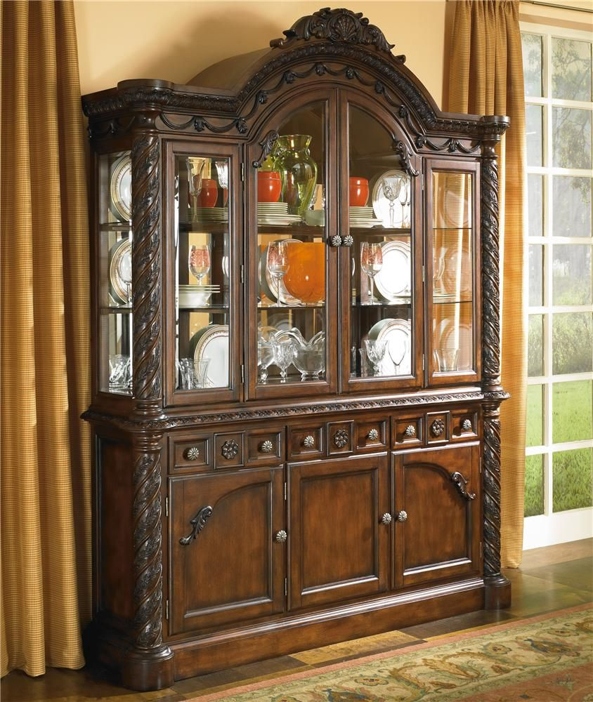 Dining Room Set With China Cabinet North Shore China Cabinet With Glass Doors By Millennium North