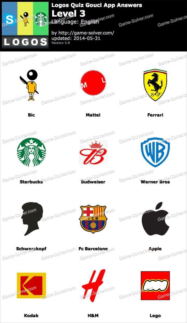 Logos Level 3 : logos, level, Logos, Gouci, Level, Quiz,, Answers,, Answers