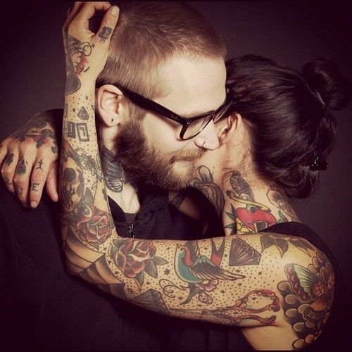 We love our tattooed girls like this old school thing for Parents against tattoos