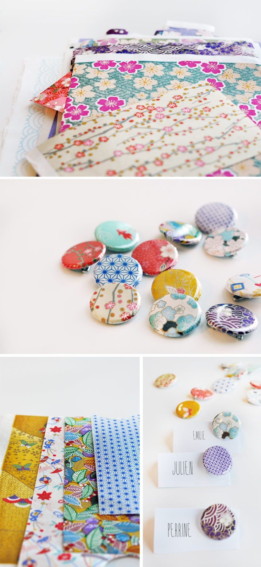 Japanese DIY badges - perfect for a rainy afternoon project! via ...