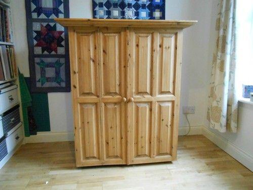 Solid wood craft/sewing cupboard | eBay