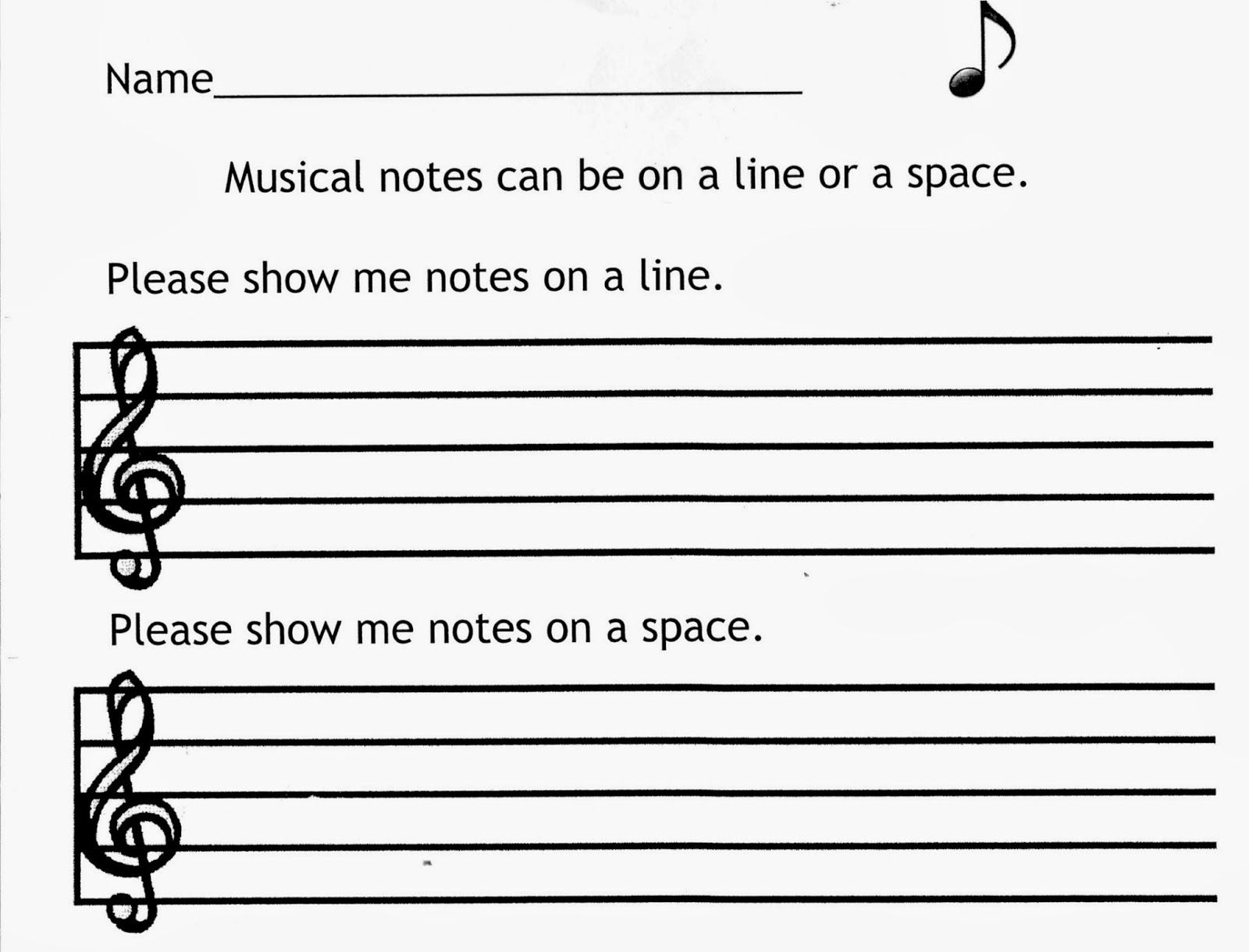 Here Is A Simple Worksheet I Made On Lines And Spaces I Found Circle Stickers At The Dollar Store A Sim Music Literacy Elementary Music Literacy