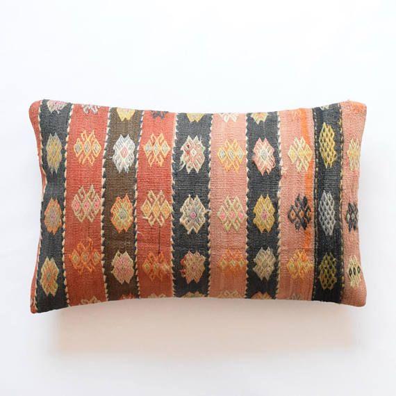 kilim rug pillow cover 16 x26 40x65cm