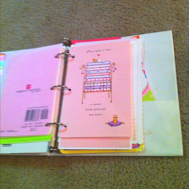 "Turn birthday cards into a ""book"" for your child or grandchild to read...what an awesome clever idea"