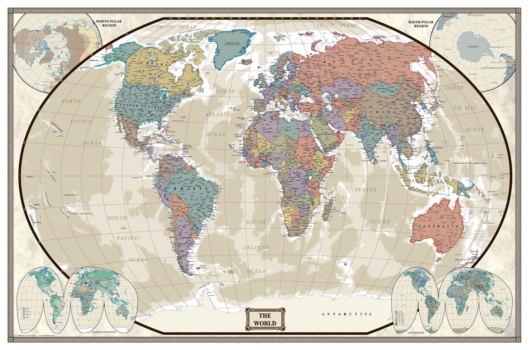 World modern day antique wall map poster pinterest wall maps swiftmaps world modern day antique wall map poster swiftmaps gumiabroncs Images