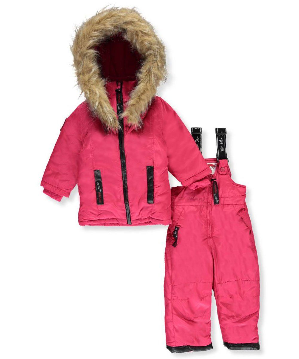Canada Weather Gear Baby Girls 2 Piece Snowsuit Red 18 Months Canada Weather Gear 2 Piece Snowsuit Jacket With Weather Snow Suit Snow Wear Winter Jackets