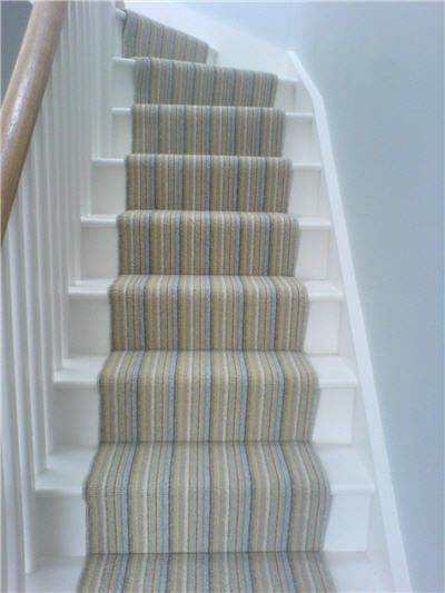 My new stair carpet, 100% wool stripes from John Lewis. It is lovely! | For  the Home | Pinterest | Stair carpet, John lewis and Hall