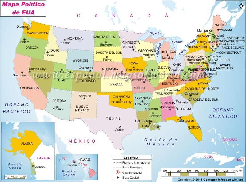 Estados Unidos Mapa States And Capitals United States Map Us State Map