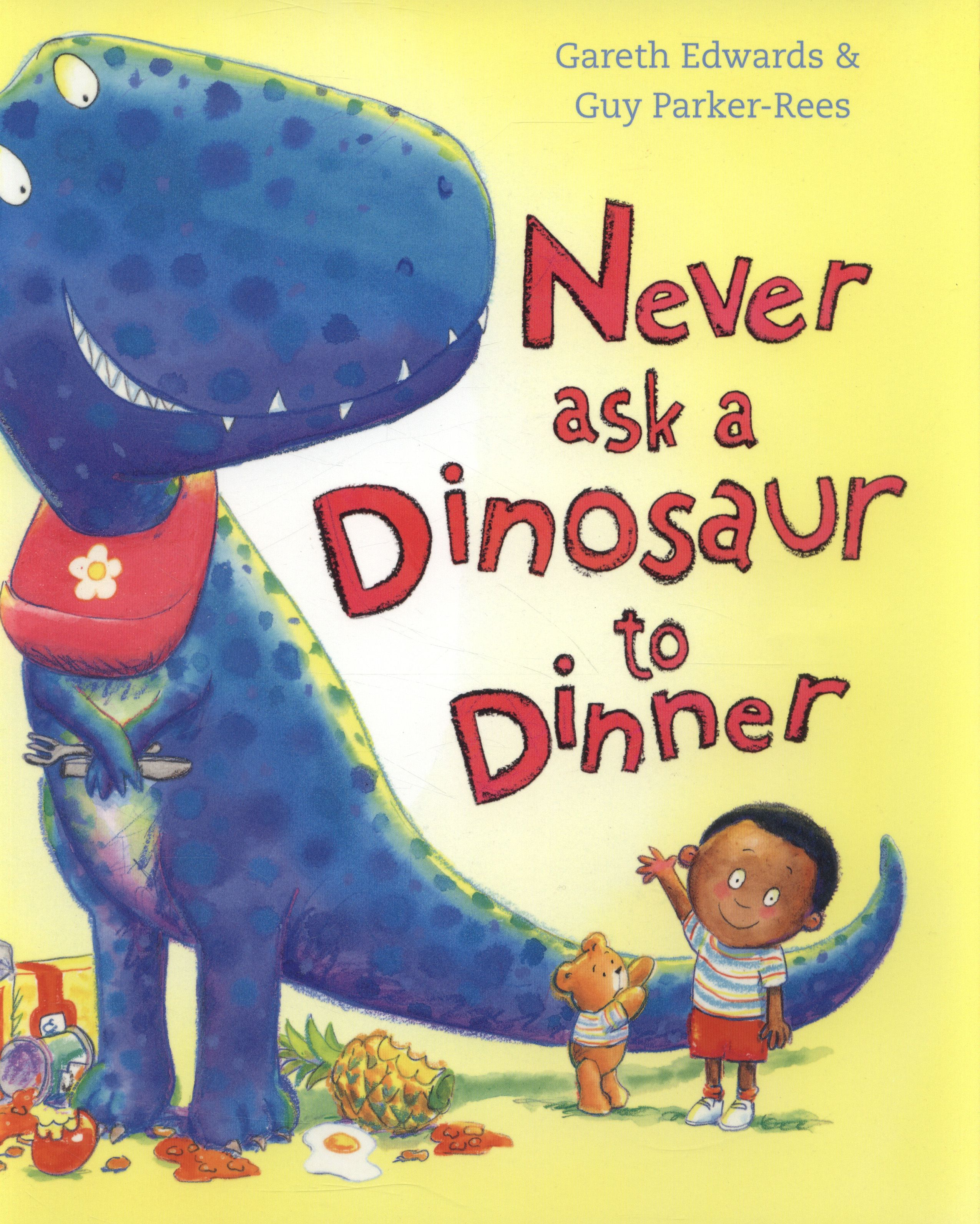 Alison who works at Mile Cross & Plumstead Rd libraries recommends #passabook 'Never ask a dinosaur to dinner', she can recite every word!