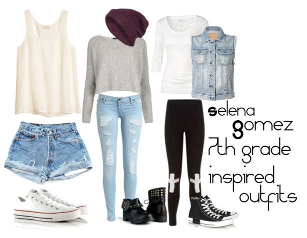 Selena Gomez 7th Grade Inspired Outfits