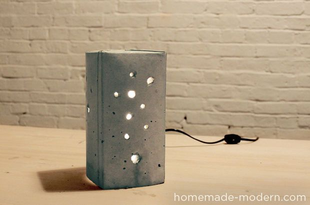 Homemade Modern Diy Concrete Lamp Diy Out Of Concrete - Betonlampe Selber Machen