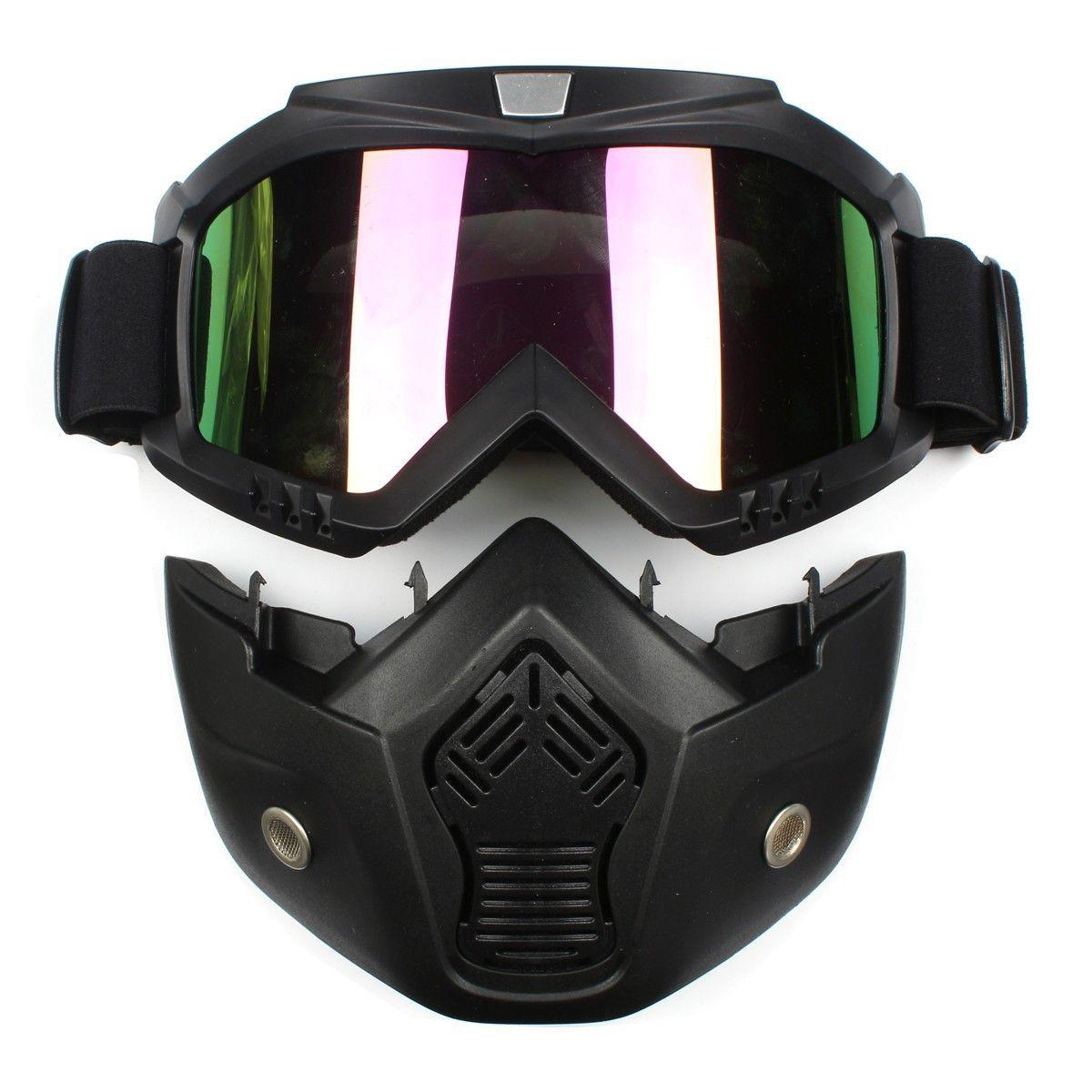 Sunglasses Mask Motorcycle Helmet Face Ski Googles Glasses Motocross Full Face Colorful