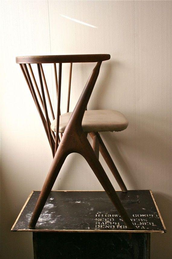Vintage Wooden Danish Modern Childu0026 Chair By Blueflowervintage