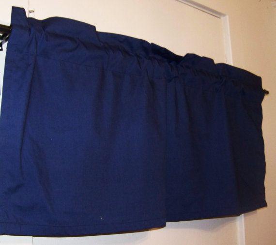 Navy Blue Kids Rooms: Dark NAVY BLUE VALANCE, Blue, Boys Room, Window Treatment