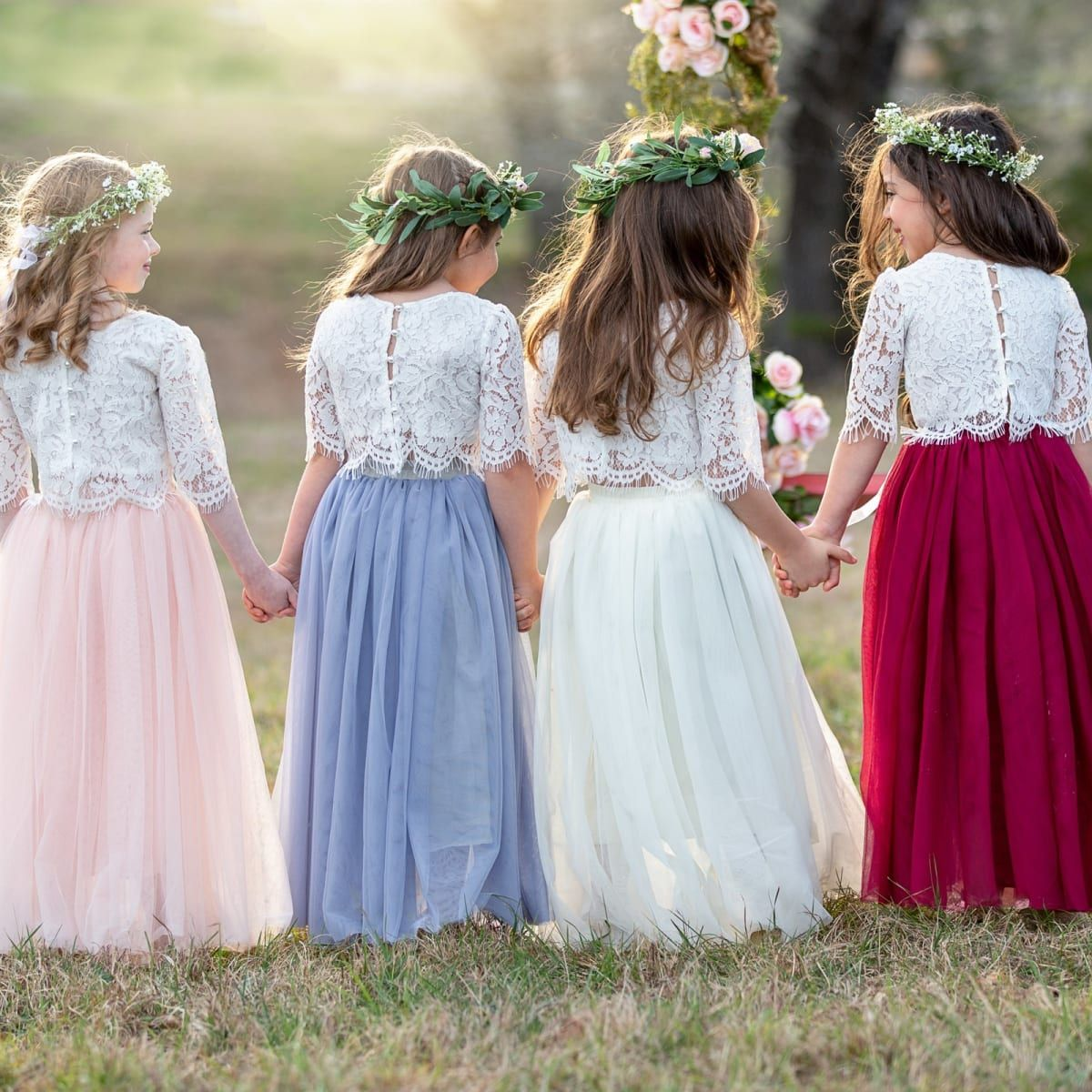 Lace Top Tulle Skirt Set 6 Colors In 2019 Girls Tulle