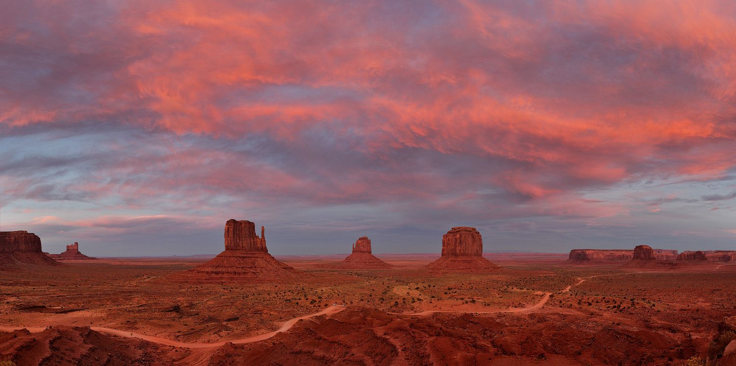 Monument Valley Pink Sunset Usa Photogallery Oleg Gaponyuk S Gallery 360 Aerial Panorama 3d V Monument Valley Tour Around The World 360 Virtual Tour