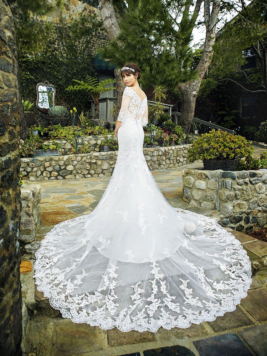 3 4 sleeve lace wedding dress   sleeve lace wedding dress with offtheshoulder neckline