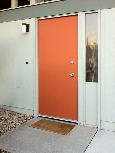 The House With The Orange Door & The House With The Orange Door | Orange door House colors and Doors