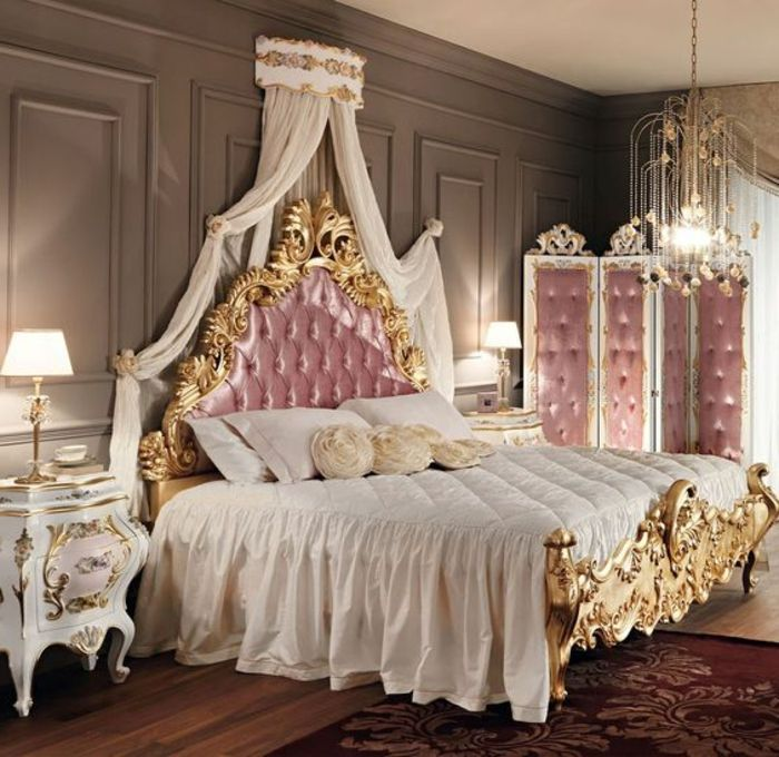 60 id es en photos avec clairage romantique chambre adulte chevet et baroque. Black Bedroom Furniture Sets. Home Design Ideas