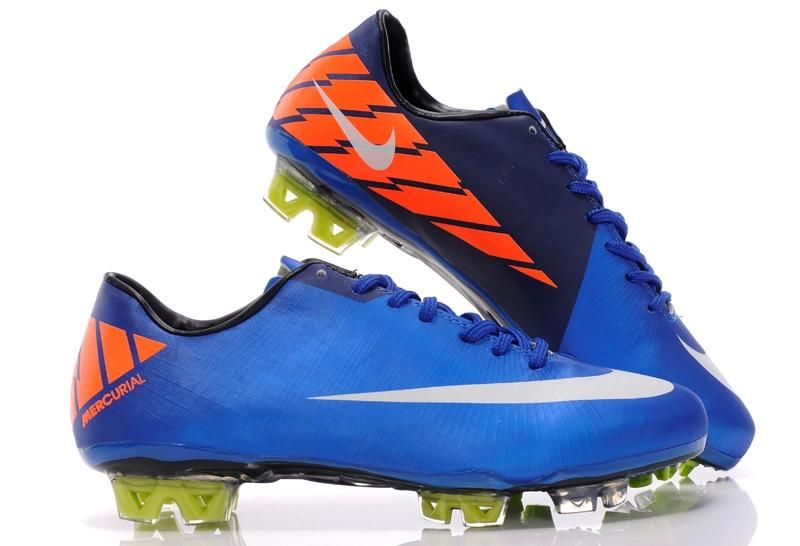 wholesale dealer ad2bb 00c7f Nike Mercurial Vapor Superfly III FG - Blue Platinum Orange