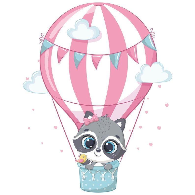 Hot Air Balloon Decorations Png Eps Baby Animal Clipart Etsy In 2021 Hot Air Balloon Decorations Animal Clipart Air Balloon