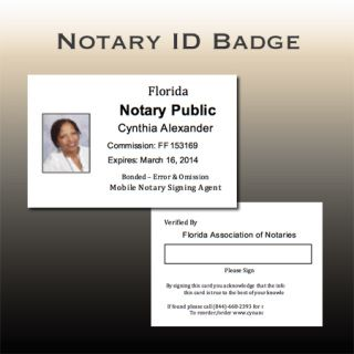 Notary Id Badge C Notary Signing Agent Notary Notary Public