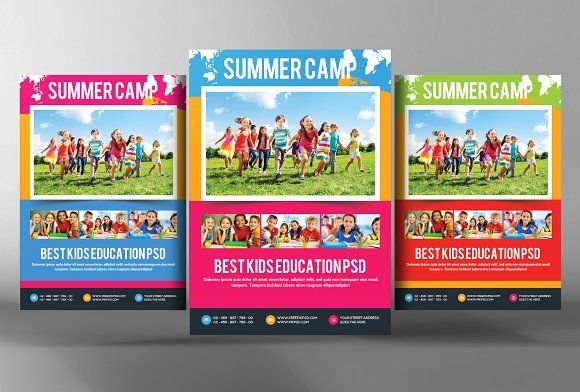 Kids Summer Camp Flyer Template  Flyer Template