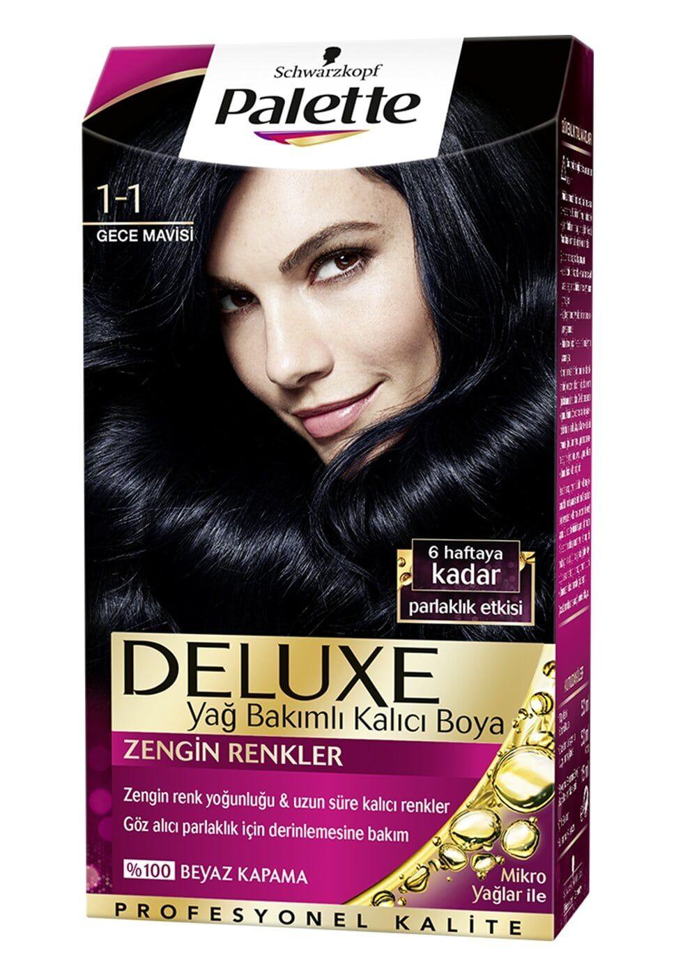 Schwarzkopf Palette Deluxe Sac Boyasi 1 1 Gece Mavisi 2020 Gece