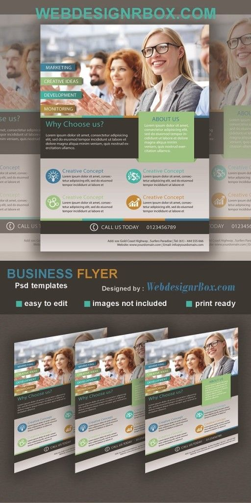 Free psd business flyer template free photoshop downloads free psd business flyer template accmission
