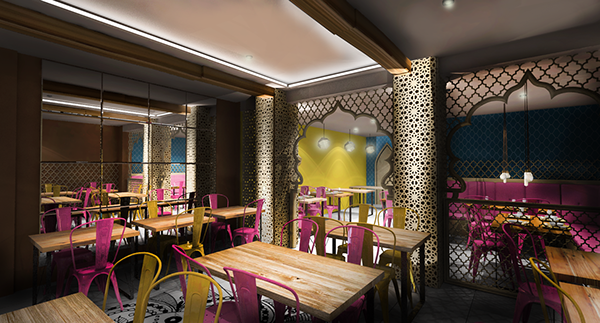Indian restaurant concept design london haringey on for Restaurant design london