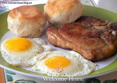 Welcome Home: Pork Chop And Eggs Breakfast