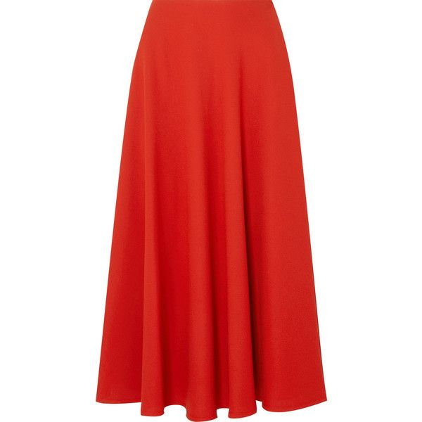 21d6e9bc2 Maison Margiela Crepe midi skirt found on Polyvore featuring skirts,  bottoms, red knee length skirt, maison margiela, draped midi skirt, midi  skirts and ...