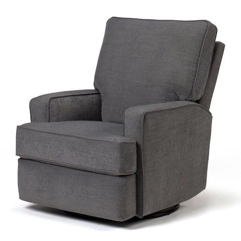 Best Chairs Kersey Upholstered Swivel Glider Recliner Steel Babies R Us