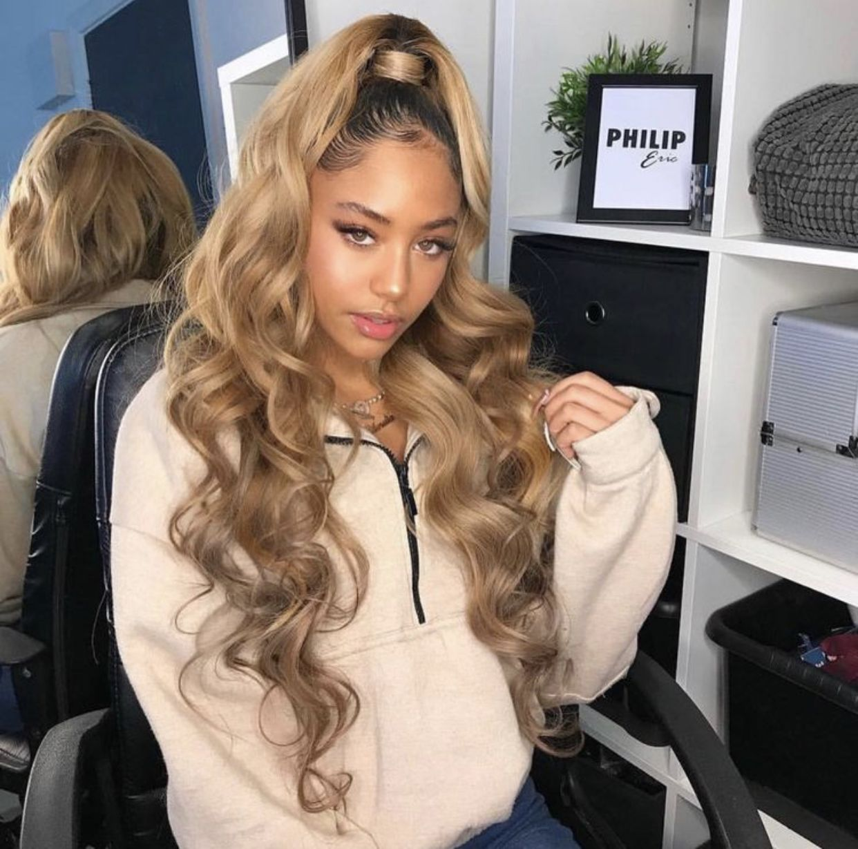 Pin By Miaya Pitts On Beauty In 2020 Blonde Hair Dyed Black
