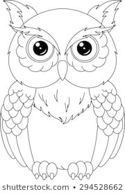 owl coloring pages images stock photos vectors shutterstock beauteous page  owl coloring pages