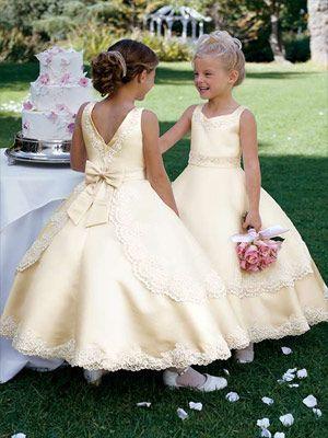 Light yellow flower girl dress moda y patrones de vestidos de light yellow flower girl dress mightylinksfo