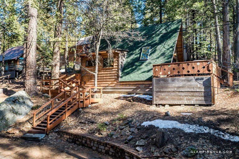 Rustic A Frame Cabin In The Woods Near Downtown Shaver Lake California Cabin Glamping California A Frame Cabin