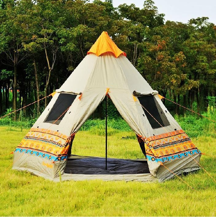 Super Cool Authentic Pyramid Teepee 4-Window Large Outdoor High Quality C&ing Tent | C&ing | Pinterest | Tents & Super Cool Authentic Pyramid Teepee 4-Window Large Outdoor High ...