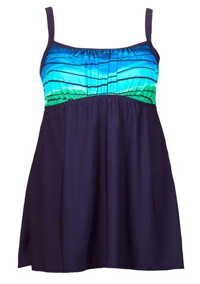 7630219b3cc Ocean Motion Plus Size Swimdress from Delta Burke®