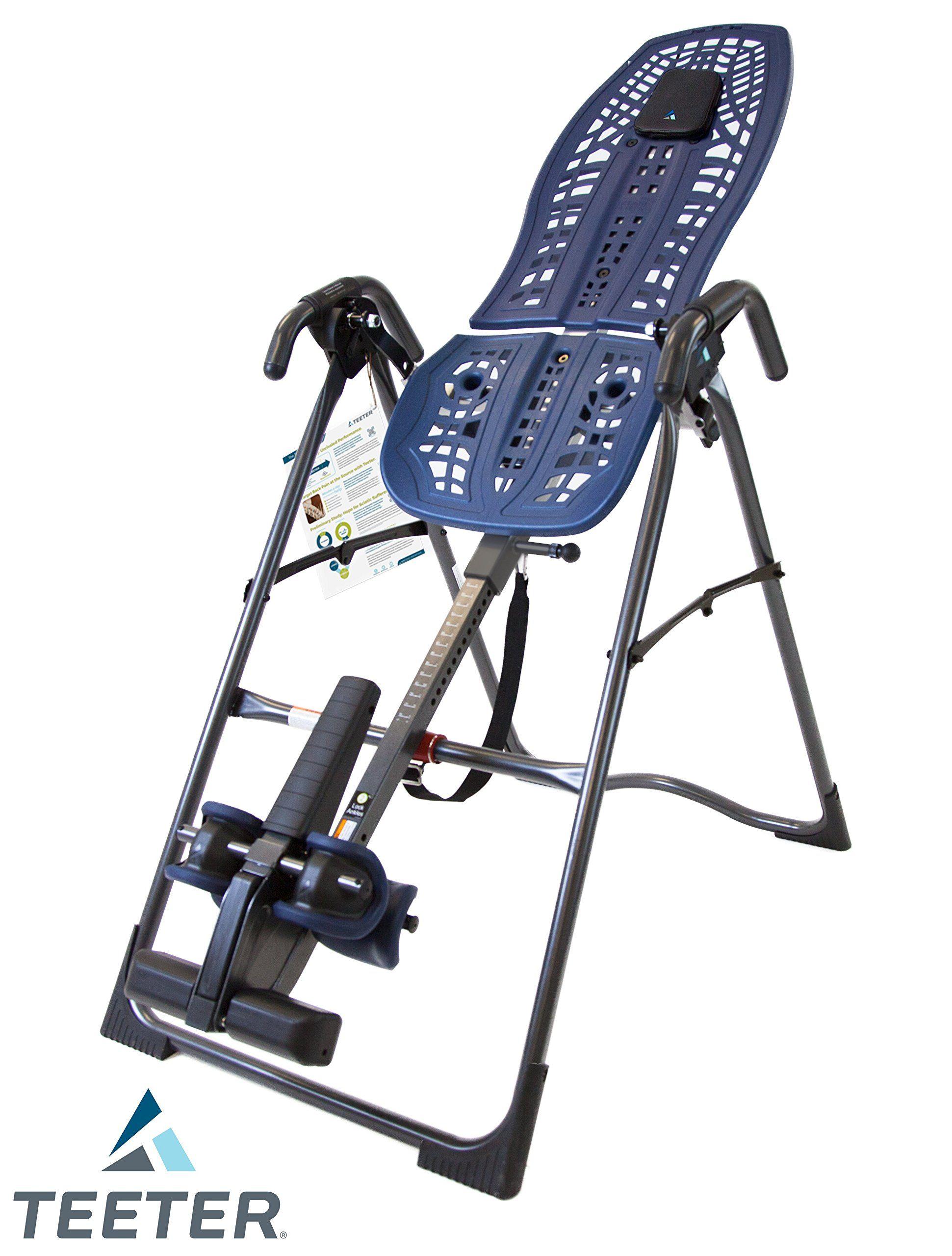 Teeter Ia1009 Invertalign 900 Inversion Table Blue Black Ez